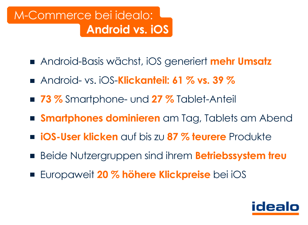 Android vs. iOS bei idealo. ©idealo